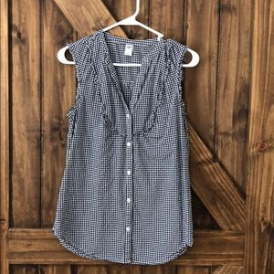 Button Up Tank Top